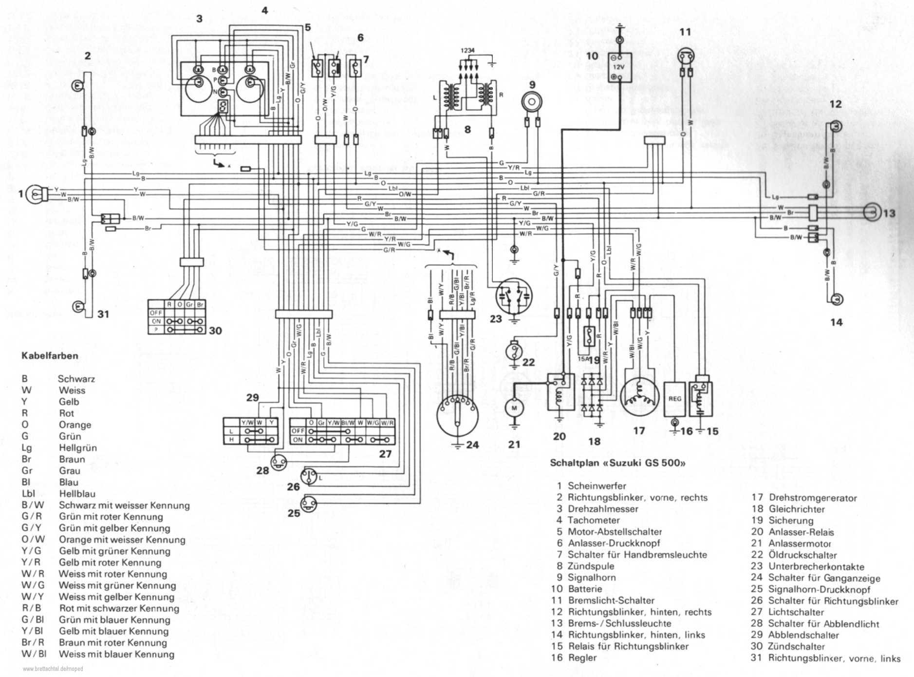 Schaltplan Gs on 1977 Suzuki Gs750 Wiring Diagram
